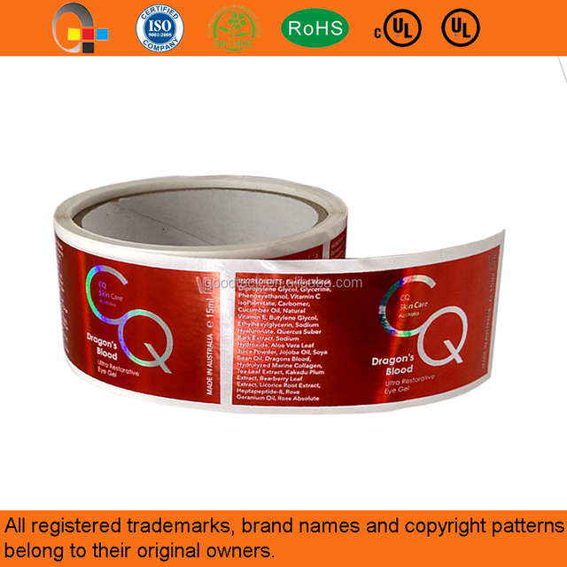 High quality custom laser metallic color vinyl sticker