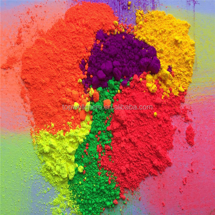 Daylight Fluorescent Pigment for Textile Printing Neon Colorful Dye for Garment Dyeing Bright Color Powder Coating