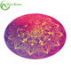 ZHENSHENG private label yoga mat suede round yoga mat