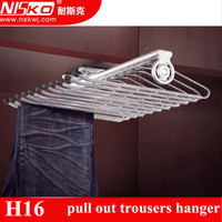 pull-out trousers rack;wardrobe closet clothes rack