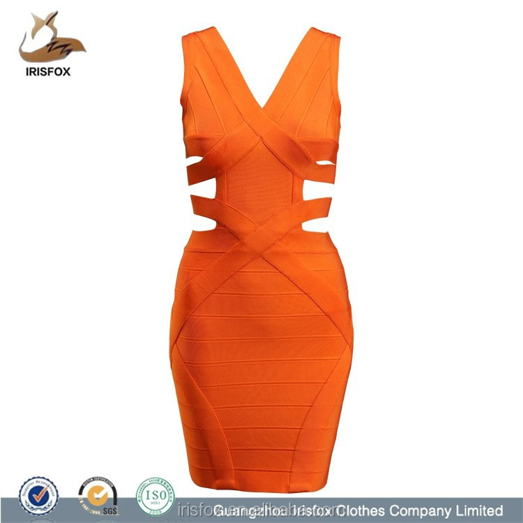 Cheapest Hot Sale Party Orange Color Dress