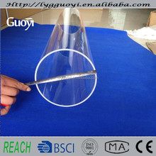 Fire polished 4 inch diameter glass tube from china factory