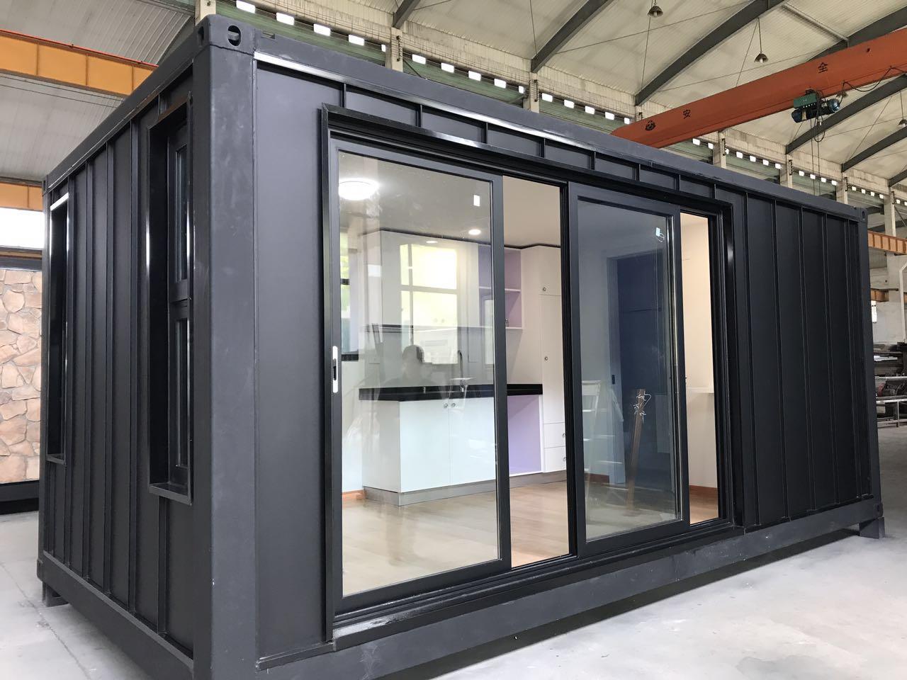 Tamamen Bitmiş Genişletilebilir 20ft Nakliye Modüler Ev Konteyner Ev Avustralya Standart Planları