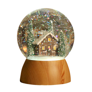 Water globe home decor House forest LED light Crafts birthday gifts snow globe