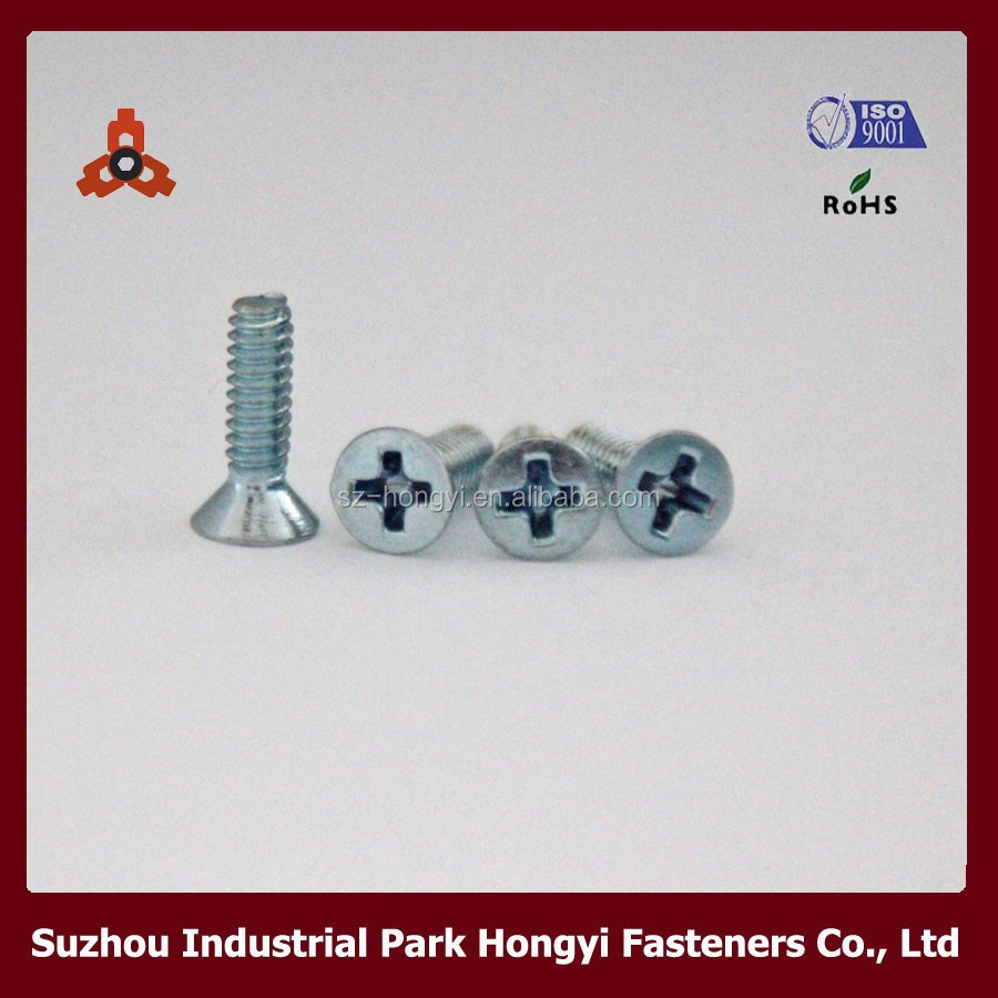 Philip Cross Countersunk Head Steel Screw Chain Link Using