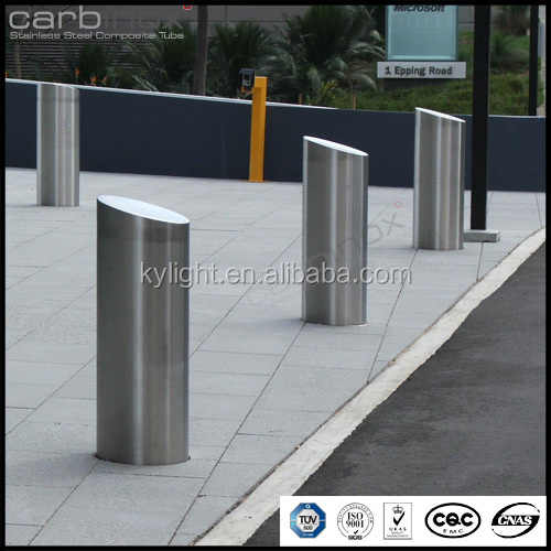Traffic concrete bollard for road, anti-collision warning barrier post