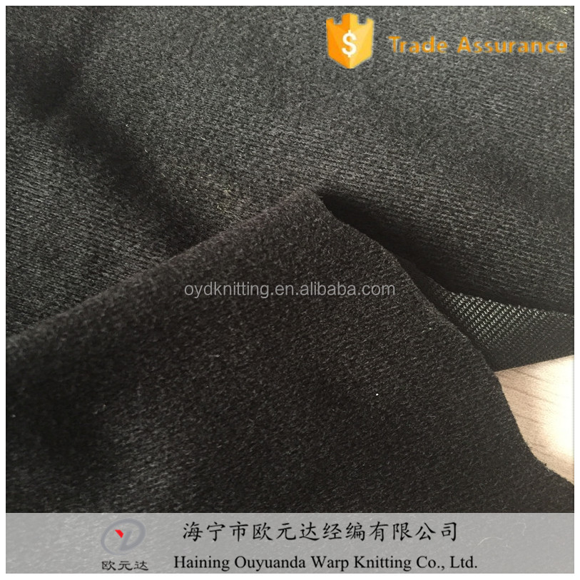100% polyester knitted high F tricot velvet fabric for making the covers of helmet pads
