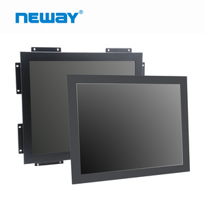12, 15, 17, 19, 21.5inch embedded 4:3 16:9 touch screen metal frame 19inch display monitor