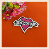 Decorative applique embroidery heart patches custom patch for blouse/coat/jean