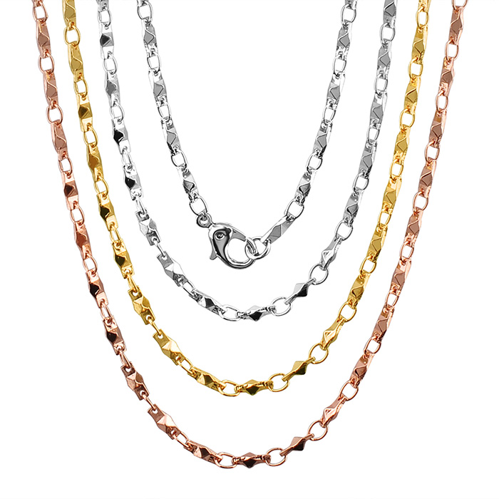 Manufacture Supplier 316L Stainless Steel 18K Gold Chain