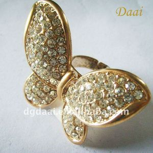 The butterfly shaped metal ring