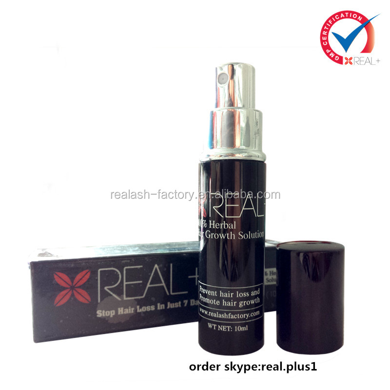 Private label hair care products REAL PLUS 10ml Strength version anti hair fall tonic