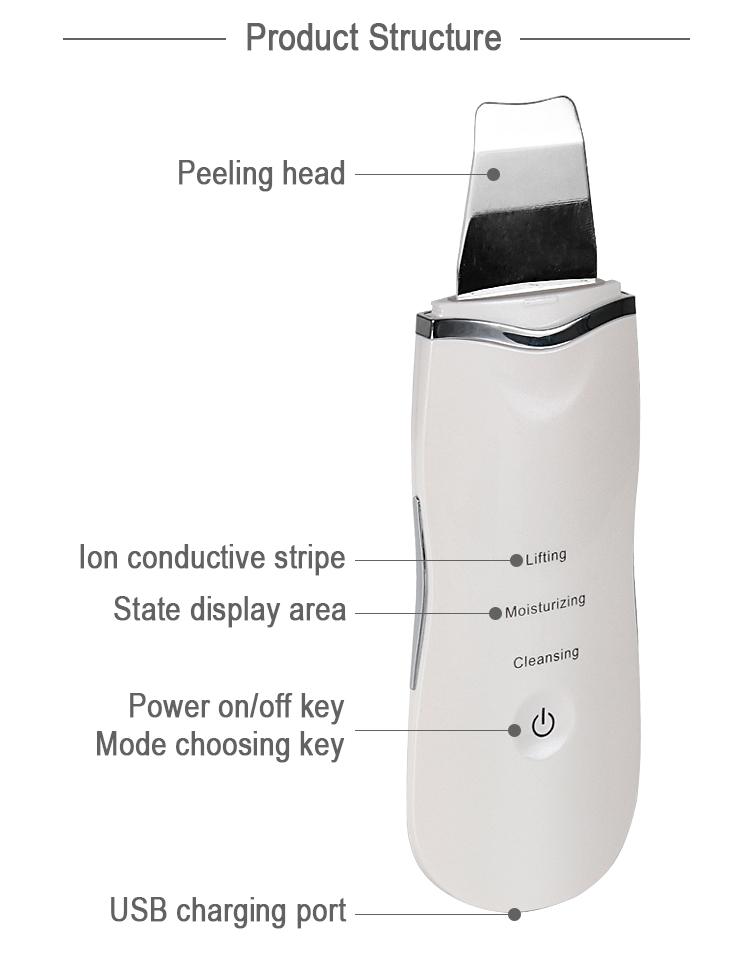 プロディープフェイスクリーニング超音波スキンスクラバー顔機