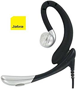 Jabra EarWave Corded Headset - Compatible with 3.5mm and 2.5mm Phones