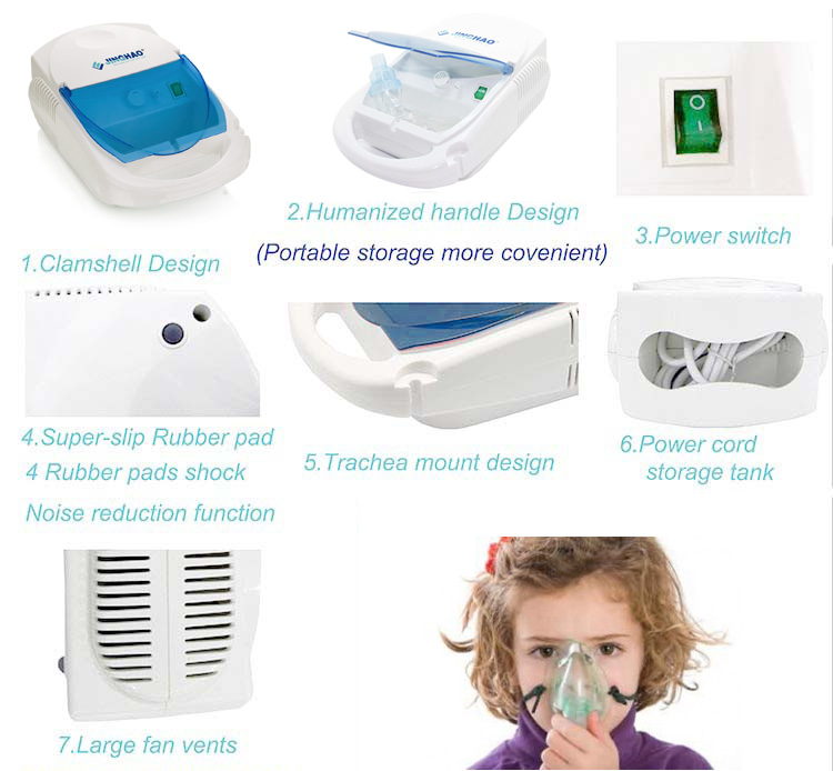 Hot Asthma Nebulizers Machine , Inhalator CVS Nebulizer