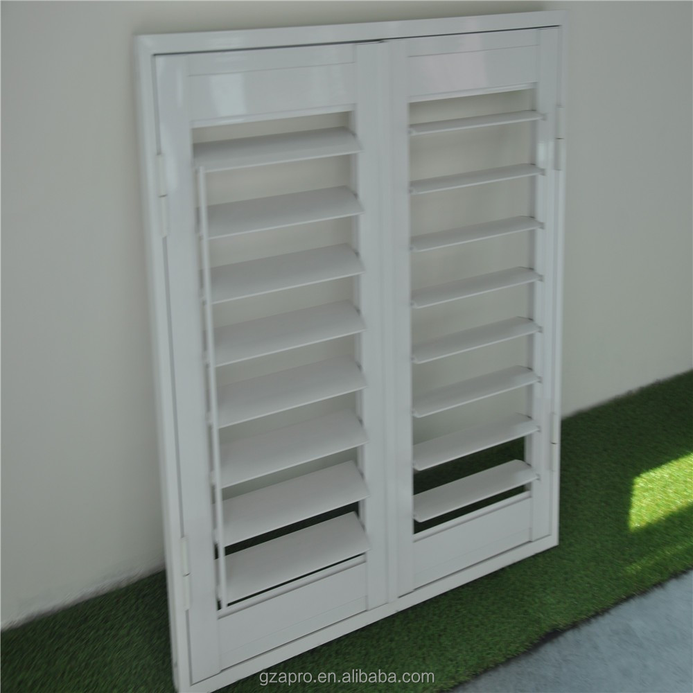 aluminum fixed louver windows grill electric shutter unique product from china