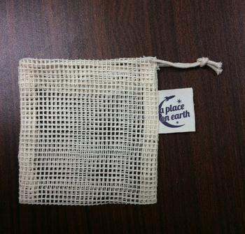 Promotional Whole Printed Cotton Cloth Mesh Soap Saver Pouch Bag
