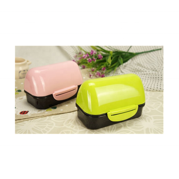 Wholesale custom house shaped PP lunch box for promotional with double side locks