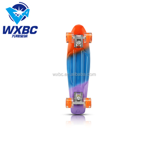 multicolor 22 inch manufactory direct PP deck oem customized cruiser skateboard for sale