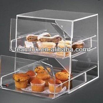 Acrylic Bakery Display Case/showcase/rack