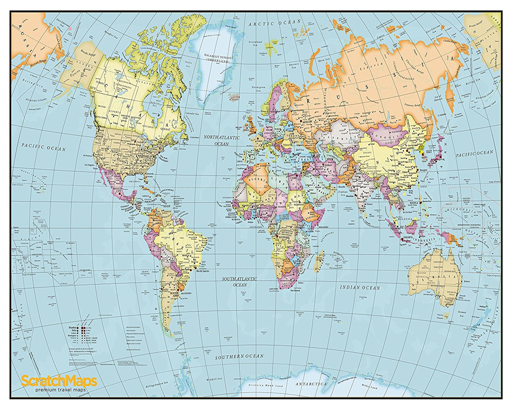 ScratchMaps - Mappe di viaggio Premium - Scratch your Journey