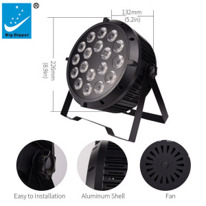 18 LED x 8W rgbw 4 in 1 led flat par light LPC004 Led par light
