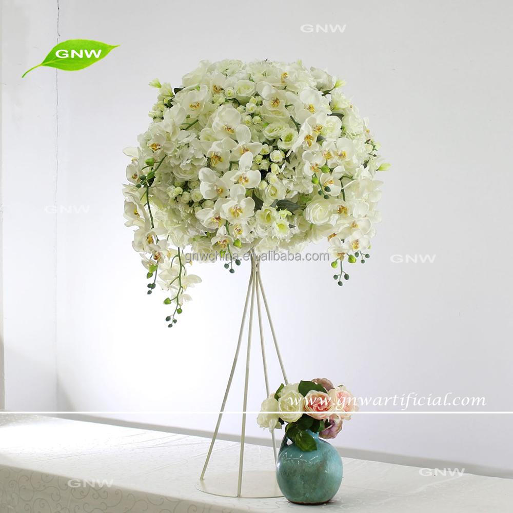 Gnw Flower Ball Table Stand Wedding Centerpiece White Color Mix ...