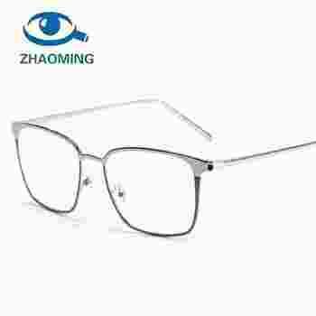 1a217e40a38 2018 Square Glasses Frame Women Men Metal Eyeglasses Optical Frames Eyewear  Clear Lens Gold Silver Spectacles