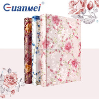 GuanMei Flower Fabric Cover Book Bound Photo Album With 4D 3up Sheets
