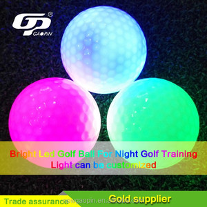 Brand new red pink yellow green colorful golf led balls for children mini golf