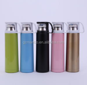 Promotional gift Outdoor 500ml Double Wall Stainless Steel Bullet Thermoses Vacuum Flasks Korea