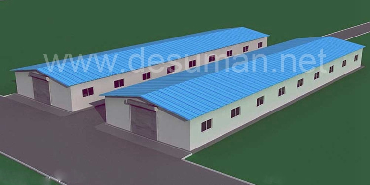 DESUMAN metallic for construction design two story prefabricated steel structure warehouse