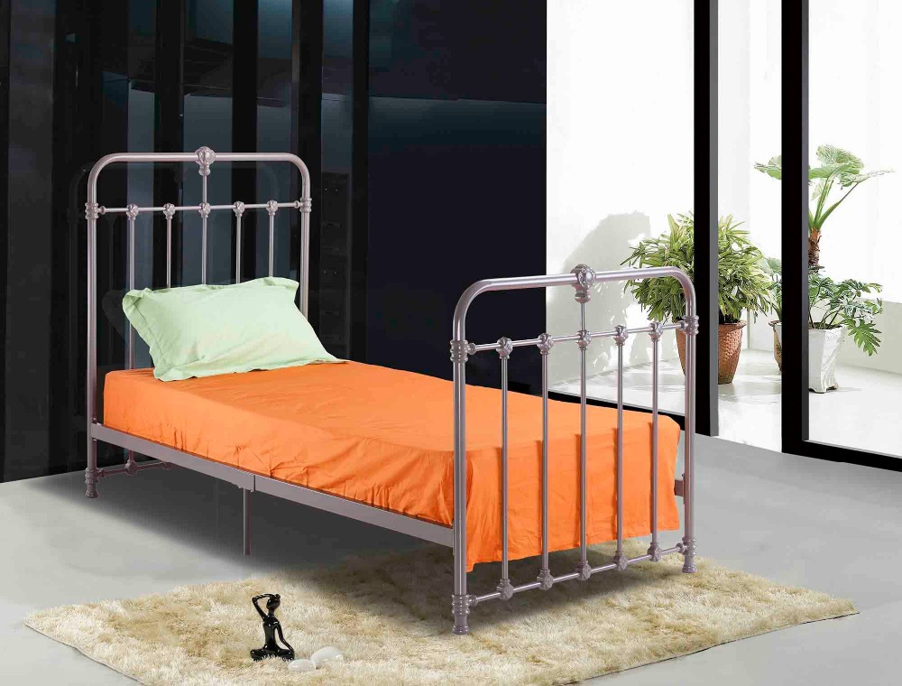 Hot sale single iron bed in cool grey color buy cool - Cool beds for sale ...