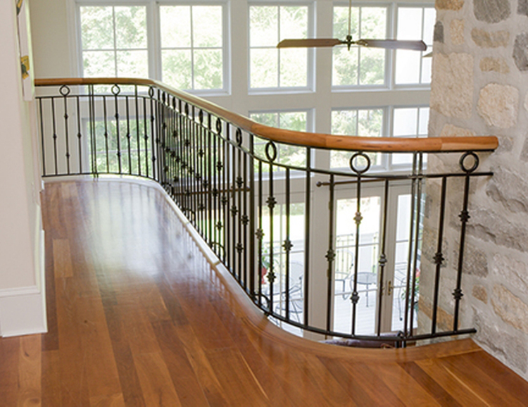 Moderne ontwerp luxe interieur smeedijzeren leuning outdoor smeedijzeren trapleuningen lowes - Railing trap ontwerp ...