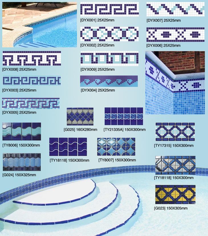 Outdoor Designs Glaze Polished Colbat Blue Pool Border Tile - Buy ...