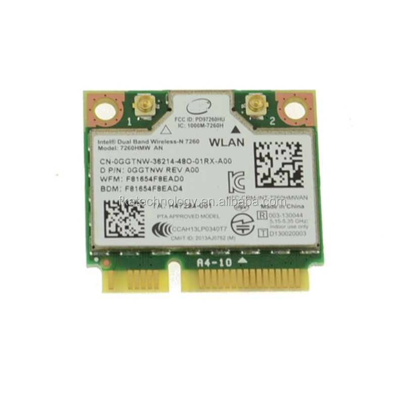 Laptop Intel Wireless-N Mini-Card 7260HMW-AN Dual Band WIFI Bluetooth 4.0 Tested