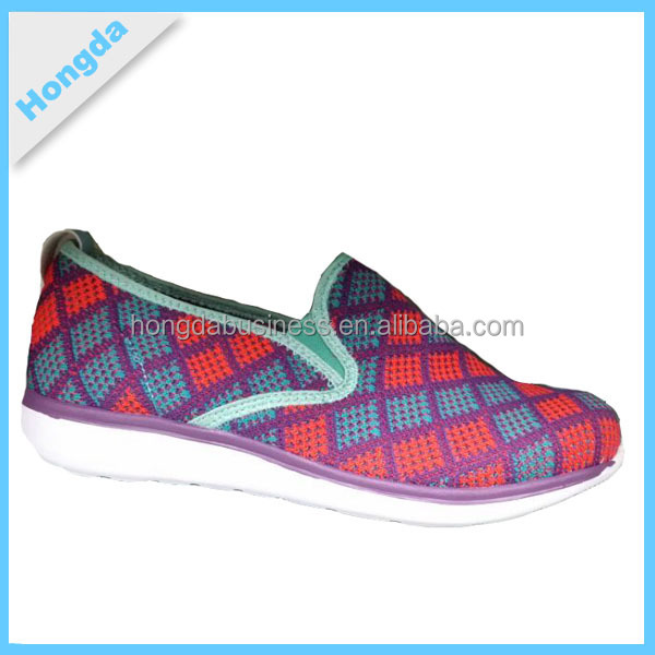 2015 New Style Flyknit Slip-on Women Cheap Casual Shoes