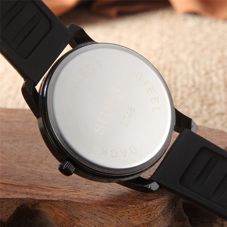 Fashion Casual lady watch Soft Silicone Strap Jelly Quartz wrist watches for Women Ladies Lovers Black White