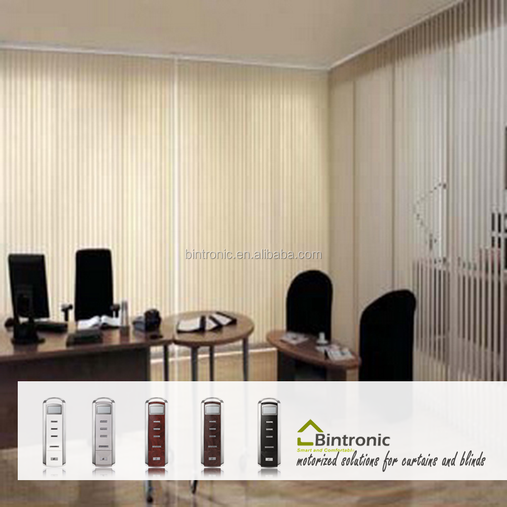 Bintronic Taiwan Electric Window Curtains And Blinds System Electric Vertical Blinds Motorized Curtain
