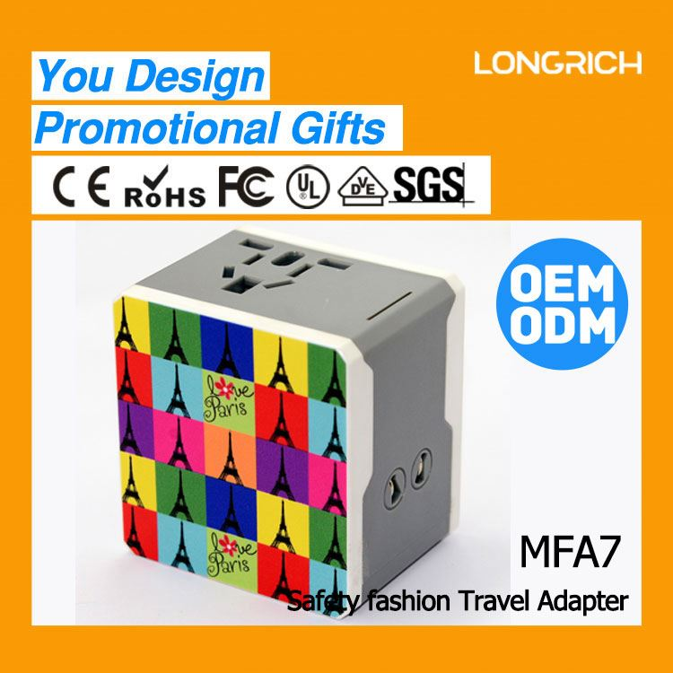 2013 LONGRICH new product switch prcd Travel Adapter