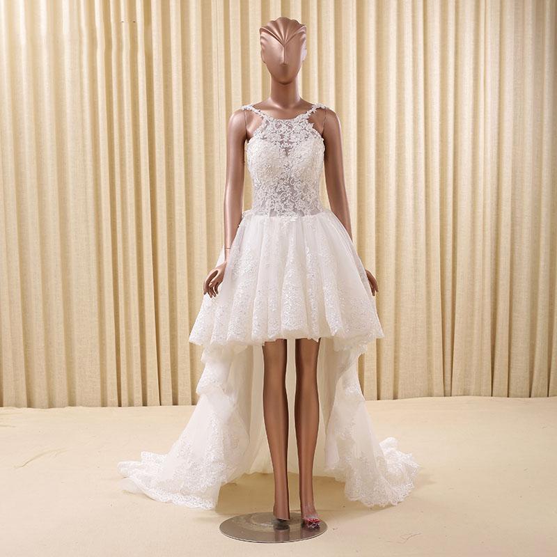 Rsm66166 Spaghetti Lace Vestido De Noiva Moderno Decote Nova Alta Baixa Hem Vestidos De Casamento Vestidos De Casamento Id Do