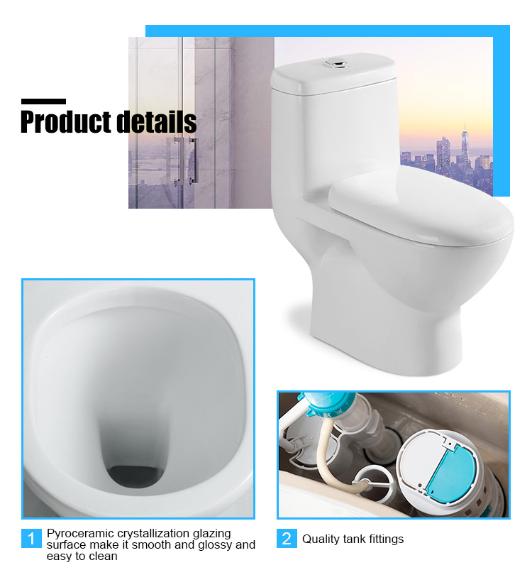 India type one piece water system toilet