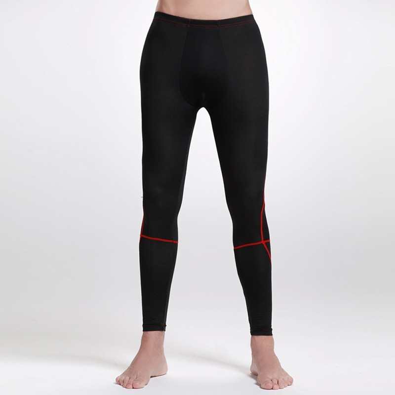 Fit Men's Fiber Skin Friendly Seamless Compression Pants & Leggings