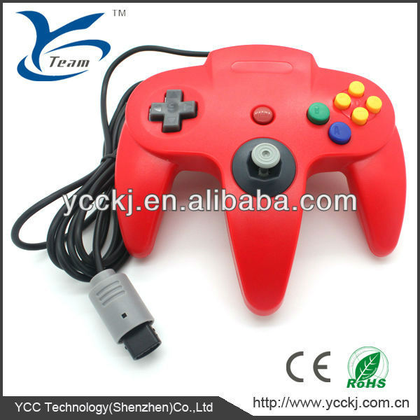For Nintendo n64 wired game controller game joystick for Nintendo n64 console gamepad