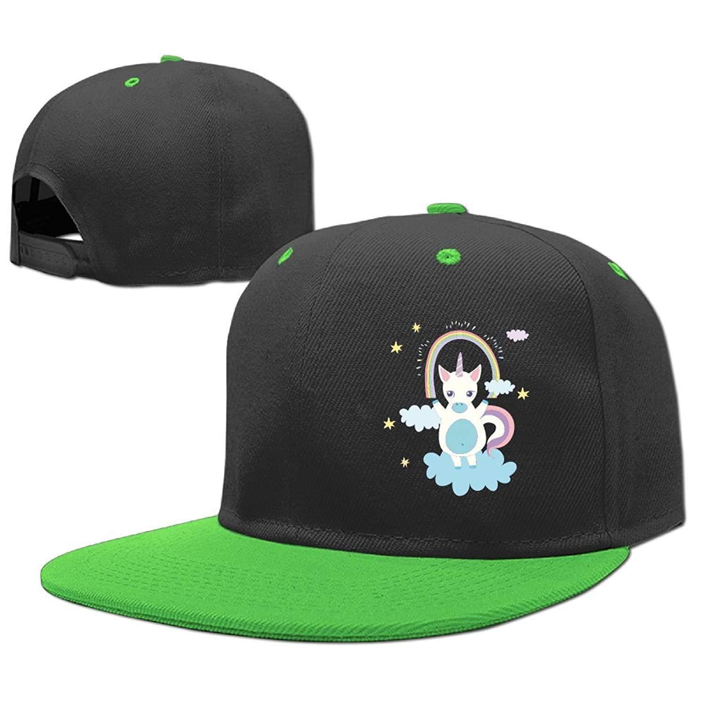 3b039a6693aaf Get Quotations · Kids Unicorn Adjustable Hip Hop Baseball Hat Toddler Cap  Custom Cap Children