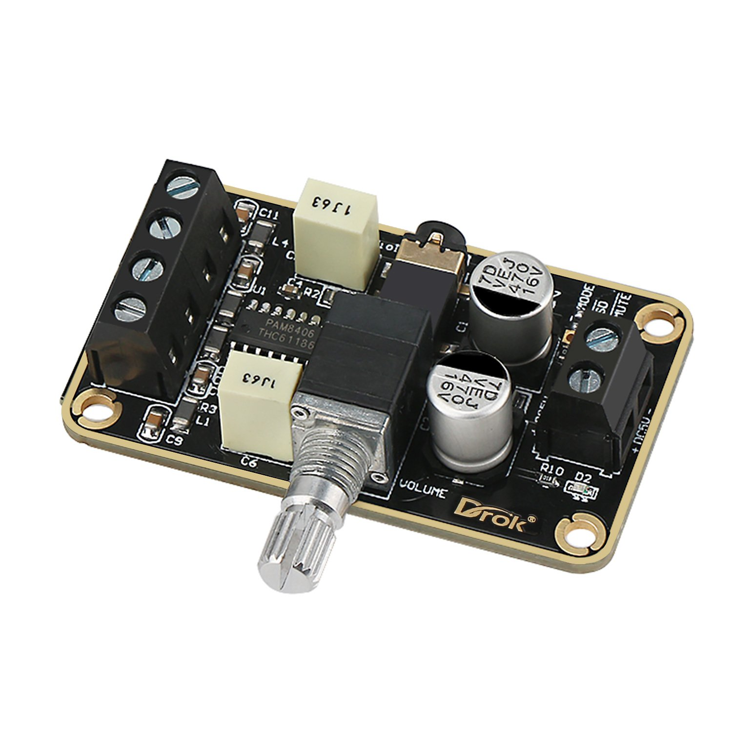 Preamp Module Volume Control Amplifier Headphone Board Diy Cheap Class C Circuit Find Get Quotations Audio Drok Pam8406 Digital Power 5w Immersion Gold Stereo