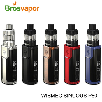 0.96 inch screen 80W WISMEC SINUOUS P80 with Elabo Mini Atomizer