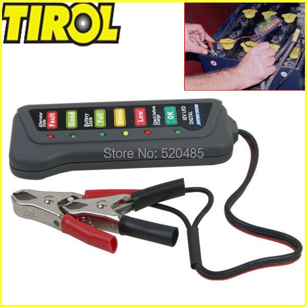 Tirol T16897b 12 В из светодиодов батарея цифровой / генератор тестер с 6 из светодиодов огней дисплей показывает состояние