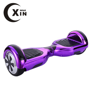 6.5 Inch Chrome Hoverboard Two Wheels Electric Scooter With Top Lights