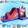 summer hot sale inflatable bouncer slide,cheap jump castle with wet&dry slide